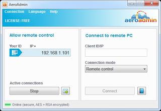 Remote Komputer dengan Aplikasi AeroAdmin