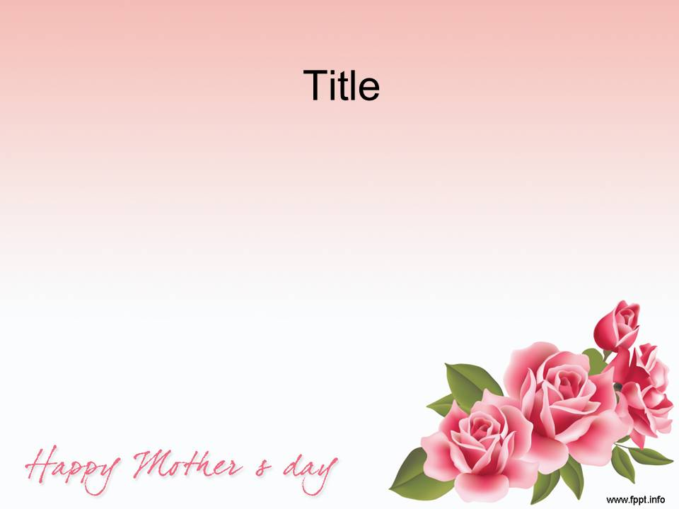 Mother S Day Point Template 003
