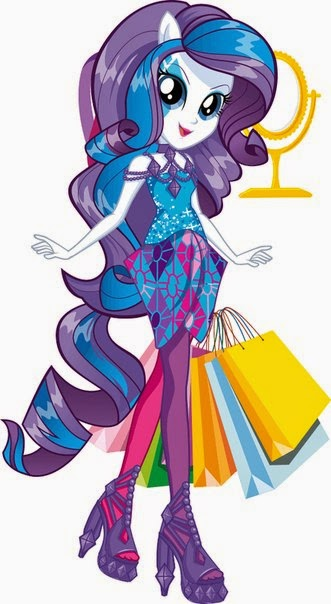 Rarity Fashion Doll Rainbow Rocks Artwork