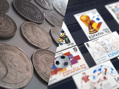 Coleccionar monedas o sellos postales