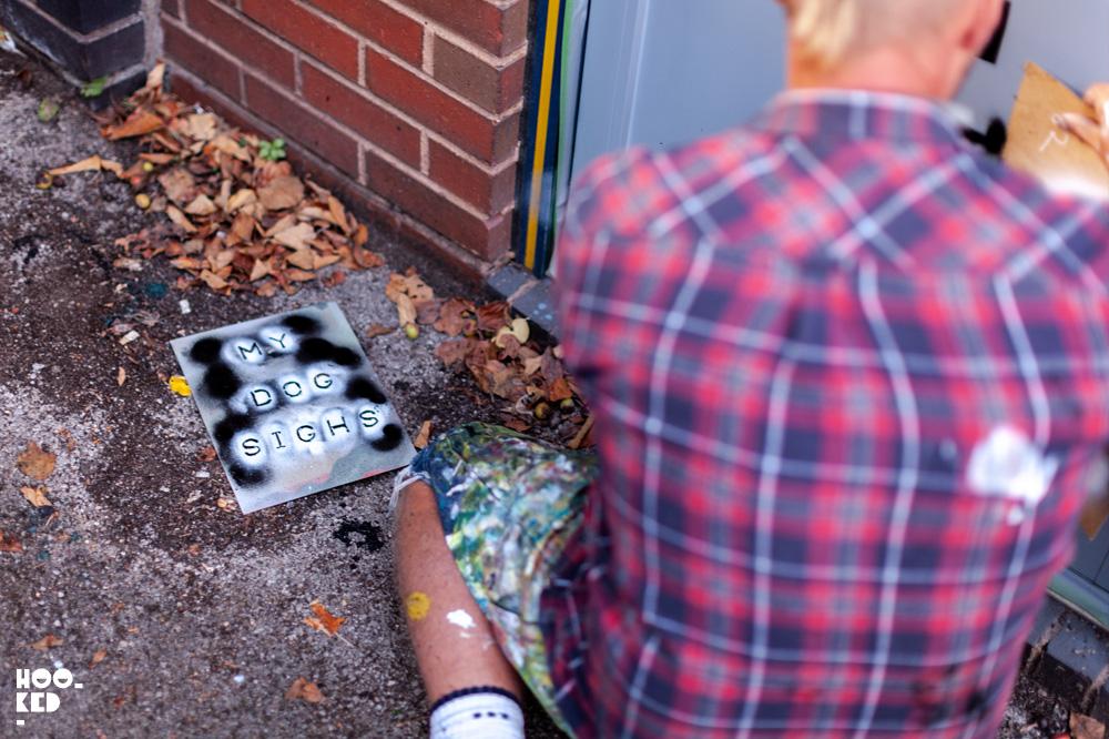 Hidden street Art in Cheltenham by Artist My Dog Sighs