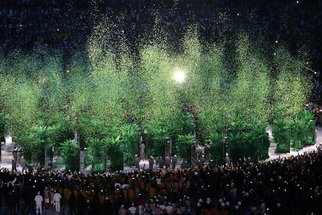 Ceremonia de apertura de los Juegos Olímpicos de Río de Janeiro, en el estadio olímpico Maracaná, Brasil,  el 5 de agosto de 2016.