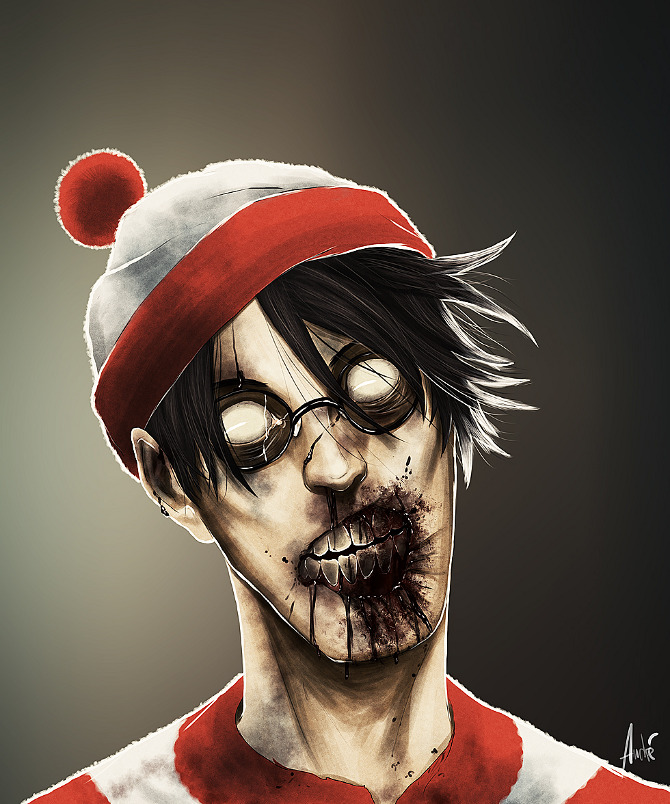 Andre de Freitas Cartoon Zombies