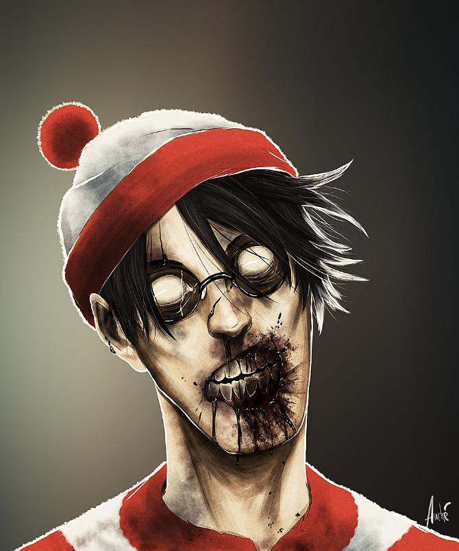 Andre de Freitas Cartoon Zombies
