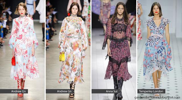 Романтические платья на подиуме весна-лето 2018