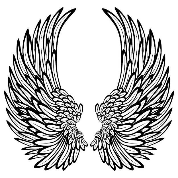 Trends For Cross With Wings Coloring Pages
