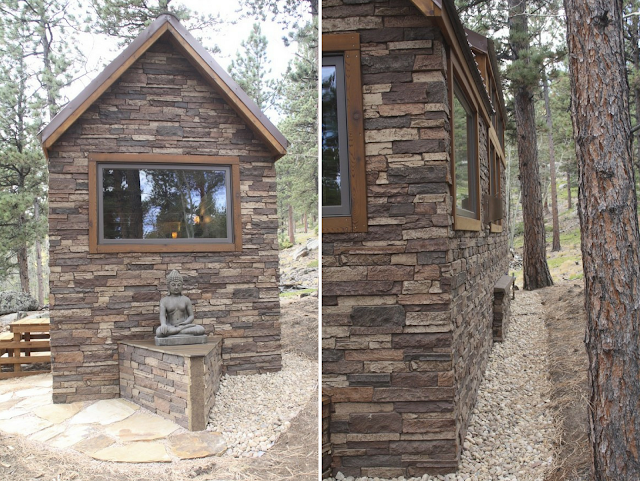tiny house stone cottage