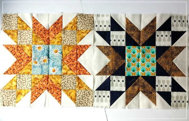 The Bee Hive, Double Star, Puppilalla, patchwork, block, quilting bee