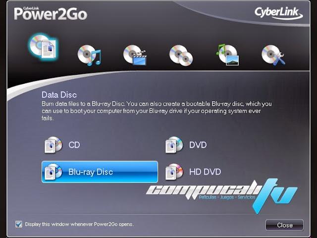CyberLink Power2Go Español