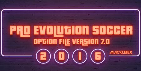 Update PES 2016 Option File