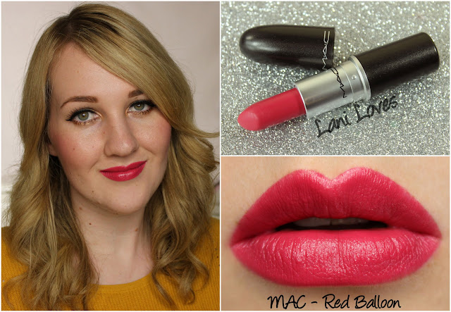 MAC Red Balloon lipstick swatch