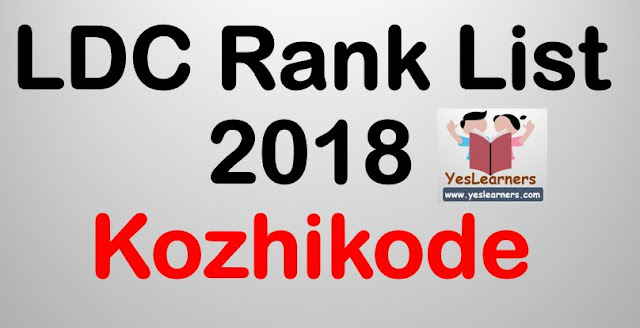 LDC Rank List 2018 - Kozhikkod