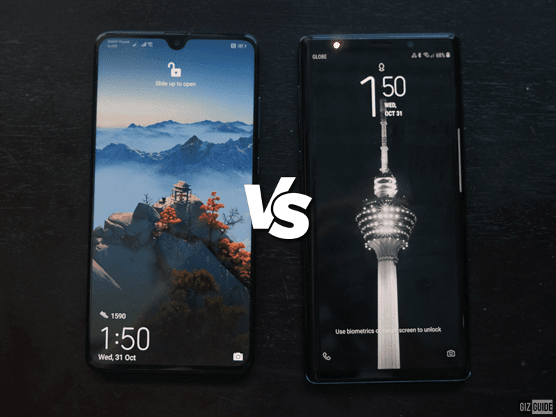Huawei Mate 20 vs Samsung Galaxy Note9 Specs Comparison