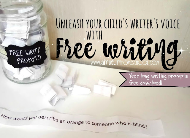 Using Free-Writing to develop kids writing with free downloadable prompts