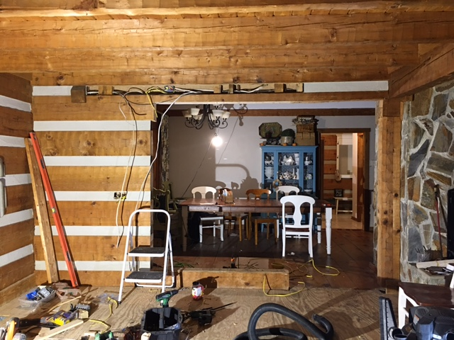 diy_remove_cut_log_cabin_interior_wall