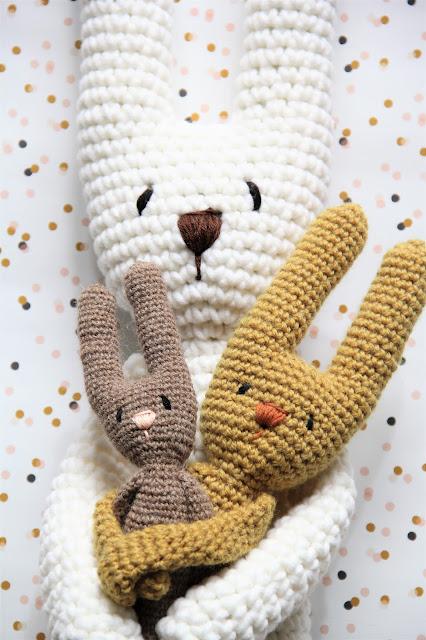 Blog, Crochet, Drops Alpaca, Gehaakt, Gratis haakpatronen, Gratis patronen, haas, haken, hazen, knuffel, rico Essentials big, Sostrene Grene, Studio Mojo,
