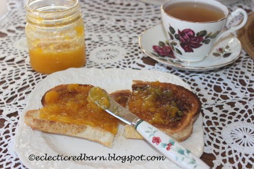 Mango Jam toast breakfast