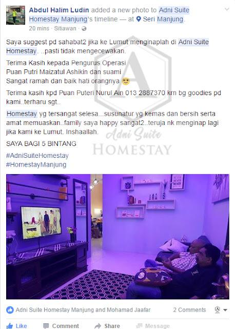 Review || Adni Suite Homestay Seri Manjung