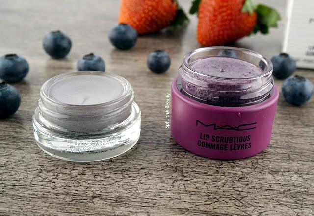 mac lip scrubtious summer berry review 2 vs paint pot