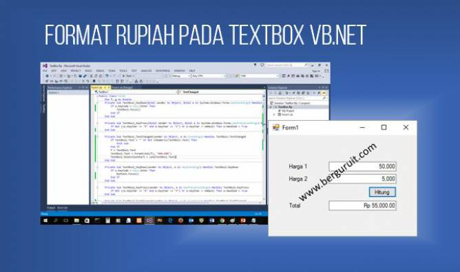 Cara membuat Format Rupiah di Textbox Vb.net