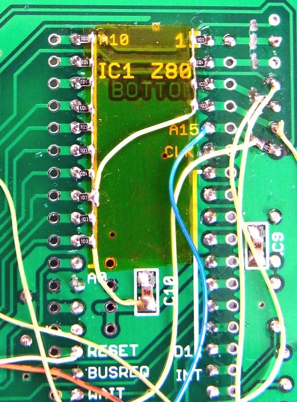 悠々趣味の日々: Z80-MBC を Z80-MBC2 に改造