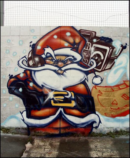 Graffiti Weihnachtsmann Graffiti Frohe Weihnachten