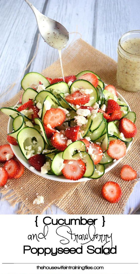 Сucumber & strawberry poppyseed salad