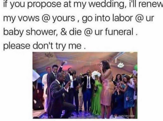 For those of you planning to propose at this person's wedding