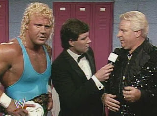 WWF / WWE - Wrestlemania 7:  Mr. Perfect and Bobby Heenan talk about Perfect's Intercontinental Championship match against Big Boss Man