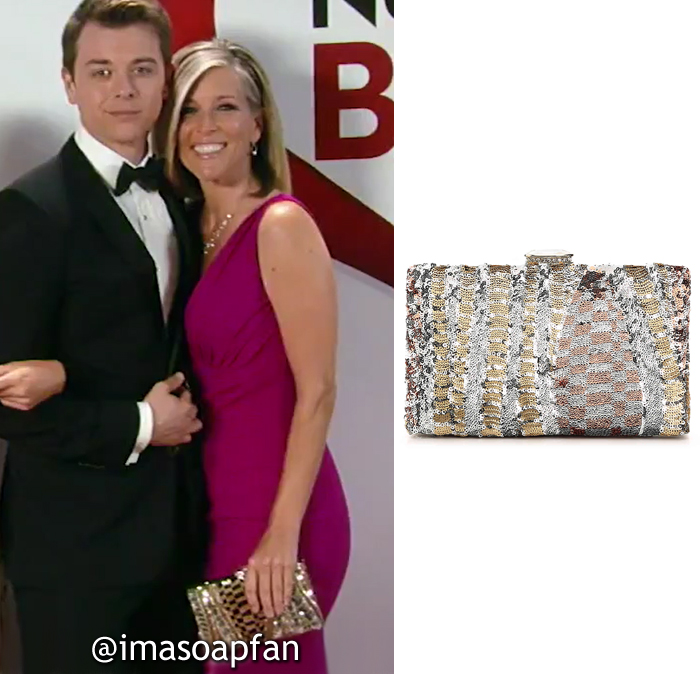 Carly Corinthos, Laura Wright, Silver, Gold, and Bronze Sequined Clutch, Lulu Townsend, Nurses Ball, GH, General Hospital