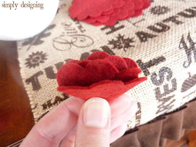Folded Felt Flowers cut with Sizzix @SimplyDesigning