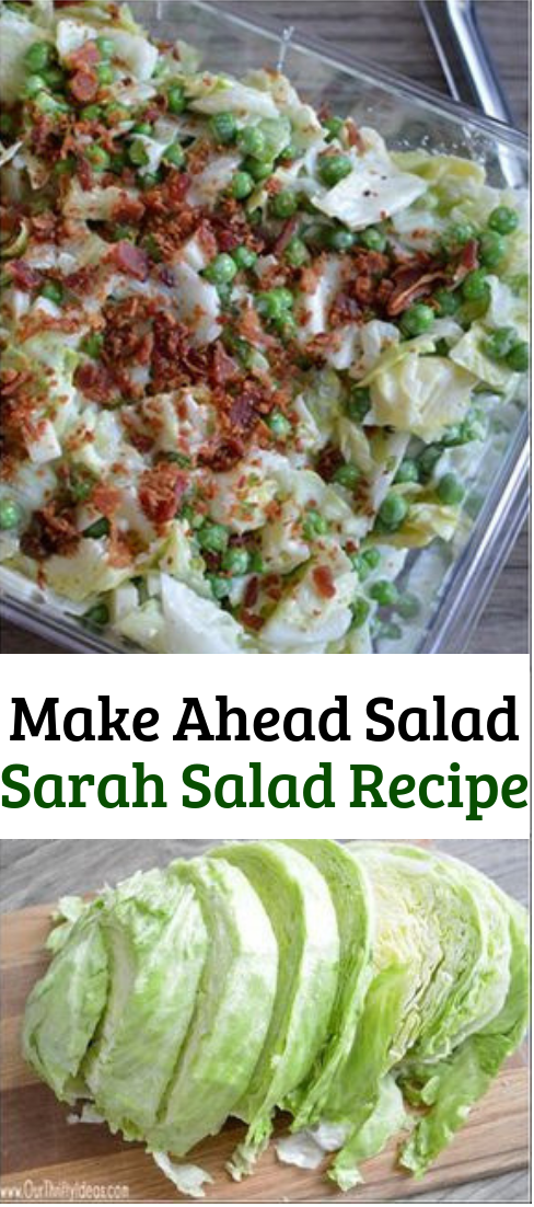 Make Ahead Salad Sarah Salad Recipe