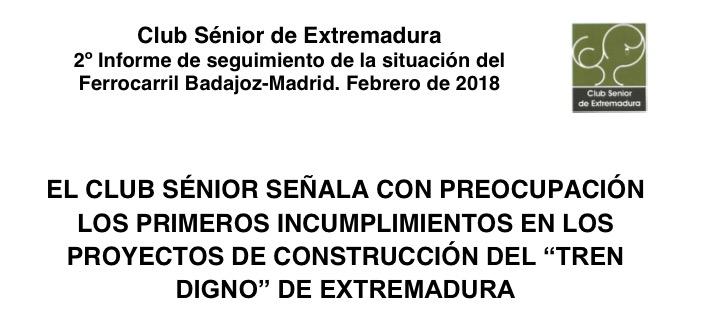 Club Senior Tren Extremadura
