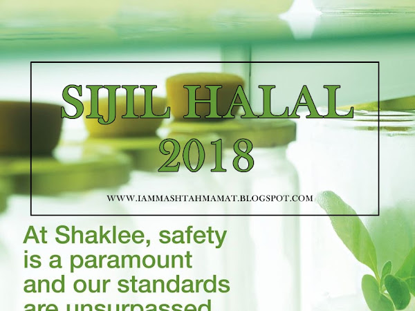 Sijil Halal Produk Shaklee 2018