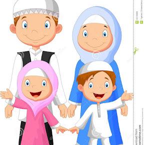 Mirzan Blog S 40 Trend Terbaru Gambar Kartun Keluarga Muslim 2 Anak Perempuan
