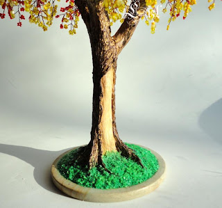 Мастер-класс гипсового ствола бисерного дерева