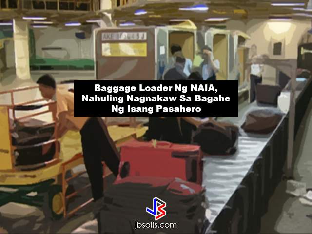 A baggage loader was arrested by the authorities at the terminal baggage ramp of the Ninoy Aquino International Airport (NAIA) after being caught stealing assorted jewelries from an arriving passengers baggage. The suspect who was arrested by the Aviation Operations and Management, Inc (AVOMSI) was identified as Roger Daniel. He was caught red handed with four pieces of earrings, two necklaces and watches which hea has stolen from the baggage of  one of the passengers of Etihad Airways. Reports say that the suspect was spotted  by AVOMSI security specialist Meresa Porgadas acting suspiciously while at the breakdown area of the baggages. According to Porgadas, she noticed that the suspect was acting suspicious and seems to hide something in his hands. That's where they found out that he has taken something from the baggage. The suspect was brought to the Airport Police Department office and has been subjected for thorough investigation. MIAA has been receiving multiple complaints from the passengers of different airline companies about missing items from their baggage. Source: Philstar Read More:          ©2017 THOUGHTSKOTO www.jbsolis.com SEARCH JBSOLIS, TYPE KEYWORDS and TITLE OF ARTICLE at the box below