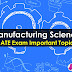 Manufacturing Science Important GATE Topics