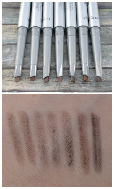 L'oréal brow artist xpert browliner Swatches