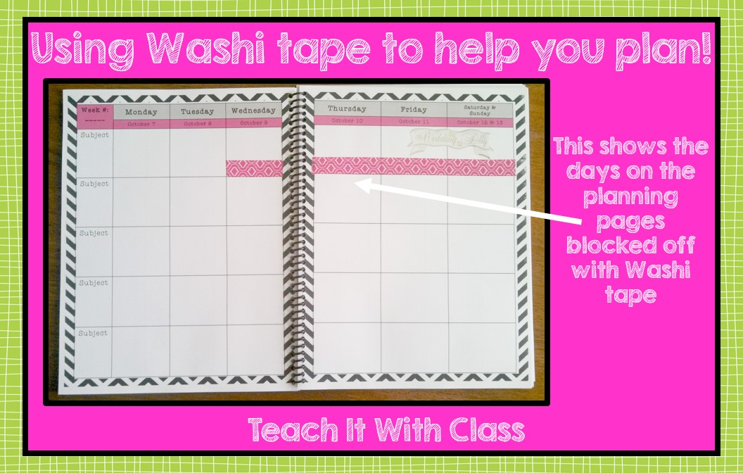 teach it with class using washi tape for planning. Black Bedroom Furniture Sets. Home Design Ideas