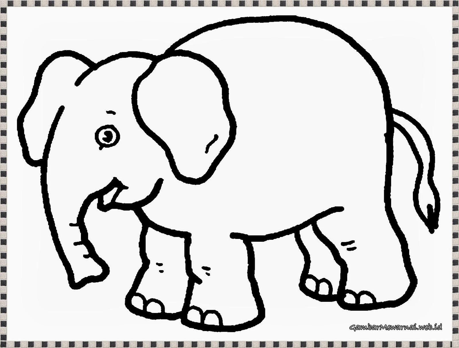 Gambar Mewarnai Gambar Binatang Bliblinews Gajah Apps