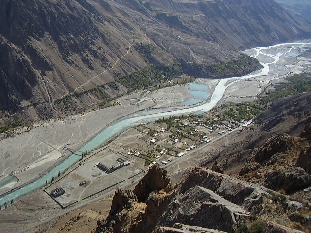 An aerial view of Junal Koch Chitral - lovely view