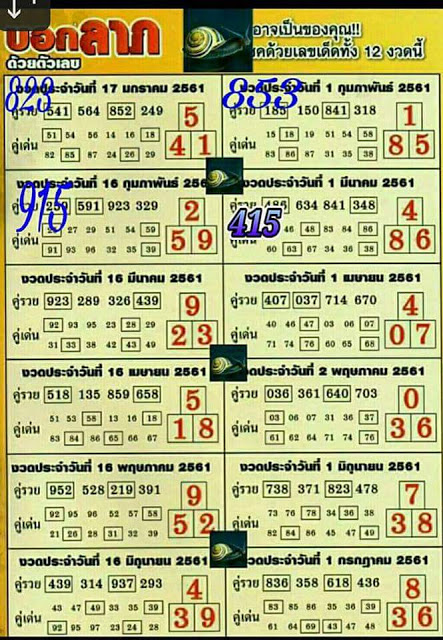 Thailand Lottery Results Today Draw 16 April 2018 - Thailand