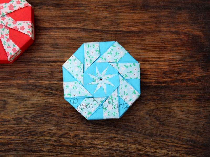 Origami Octagon Gift Box easy modular - YouTube | 599x800