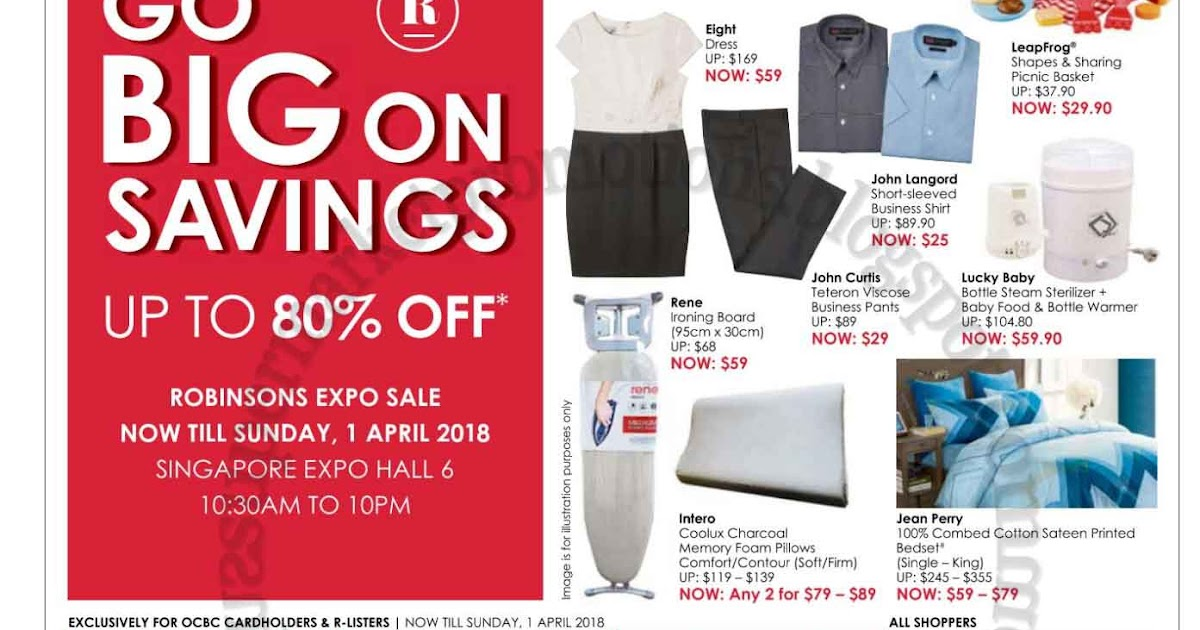 Robinsons Expo Sale 23 March - 01 April 2018 ~ Supermarket