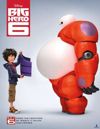 Poster of movie Big Hero 6 Full Movie Download in 300mb , hevc mkv mobile worldfree4y khatrimaza