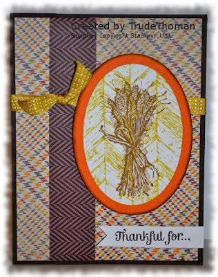 Stamp with Trude, Stampin' Up, Truly Grateful, Thanksgiving, Thank You, fall, autumn