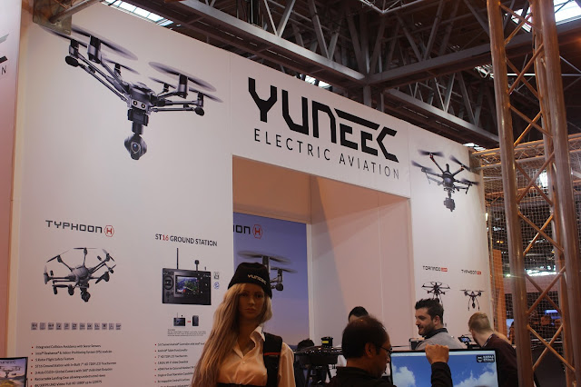Photograph of the Yuneec drones booth