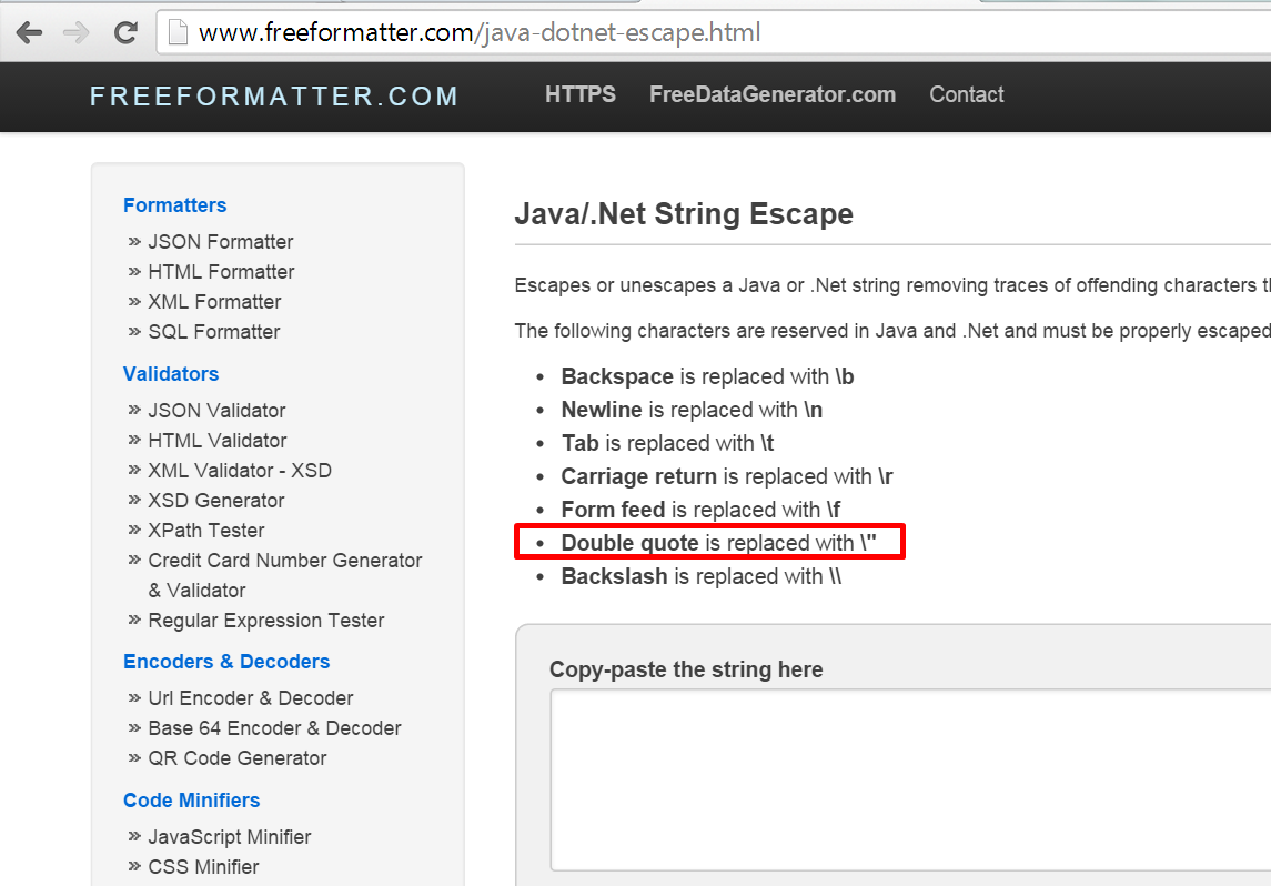 SAP PI Reference: String to String escape in SAP PI and