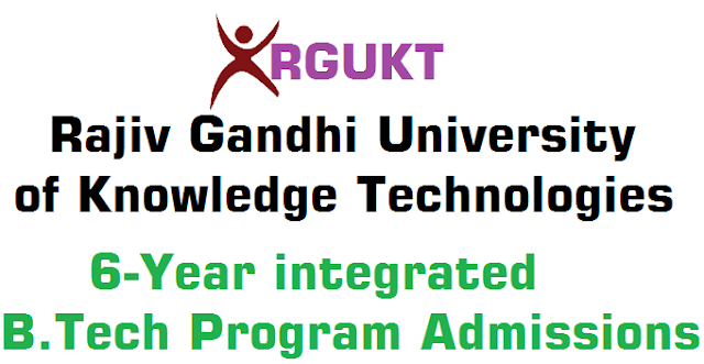 RGUKT,Integrated B.Tech Program,Admissions